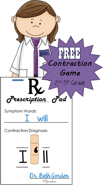 Band Aid Contraction Games Contraction Games 2nd Grade Reading Contractions Activities