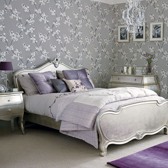 24 Purple Bedroom Ideas With Images Silver Bedroom Hotel