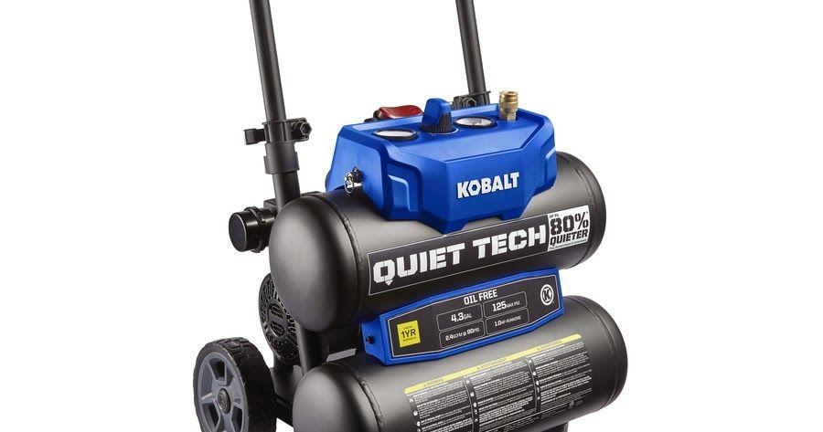 Lowes kobalt quiet tech 43gallon portable electric