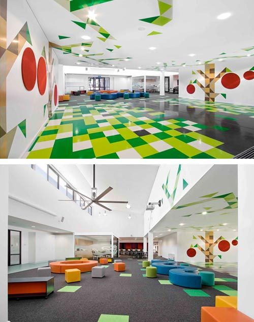 Playful And Lively School Interior Presents Interesting And Lively Study  And Playroom For Kids Into Home