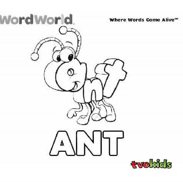 Word World Coloring Pages Preschool word world colouring