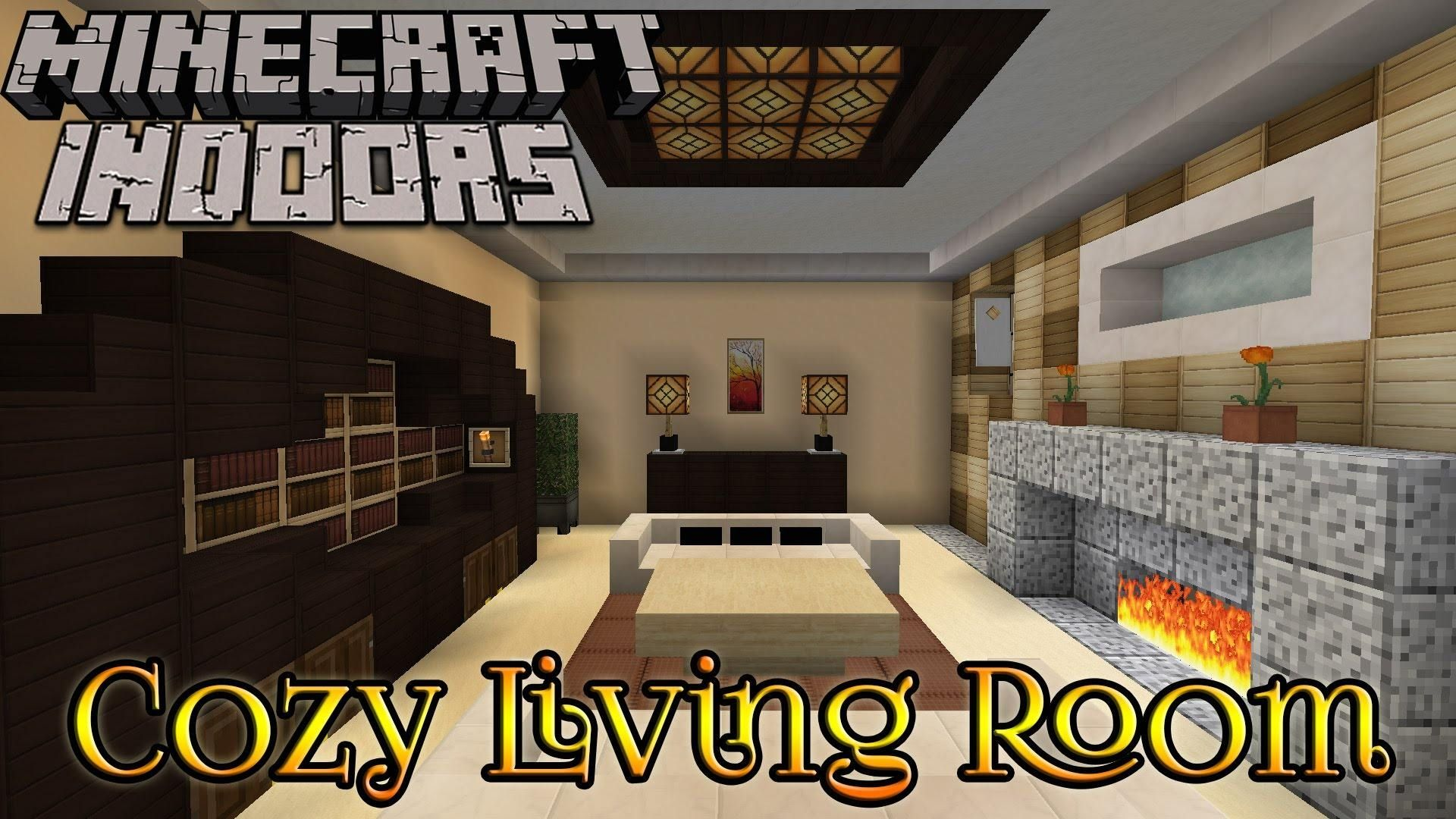 Minecraft Indoors Interior Design Cozy Living Room Youtube In