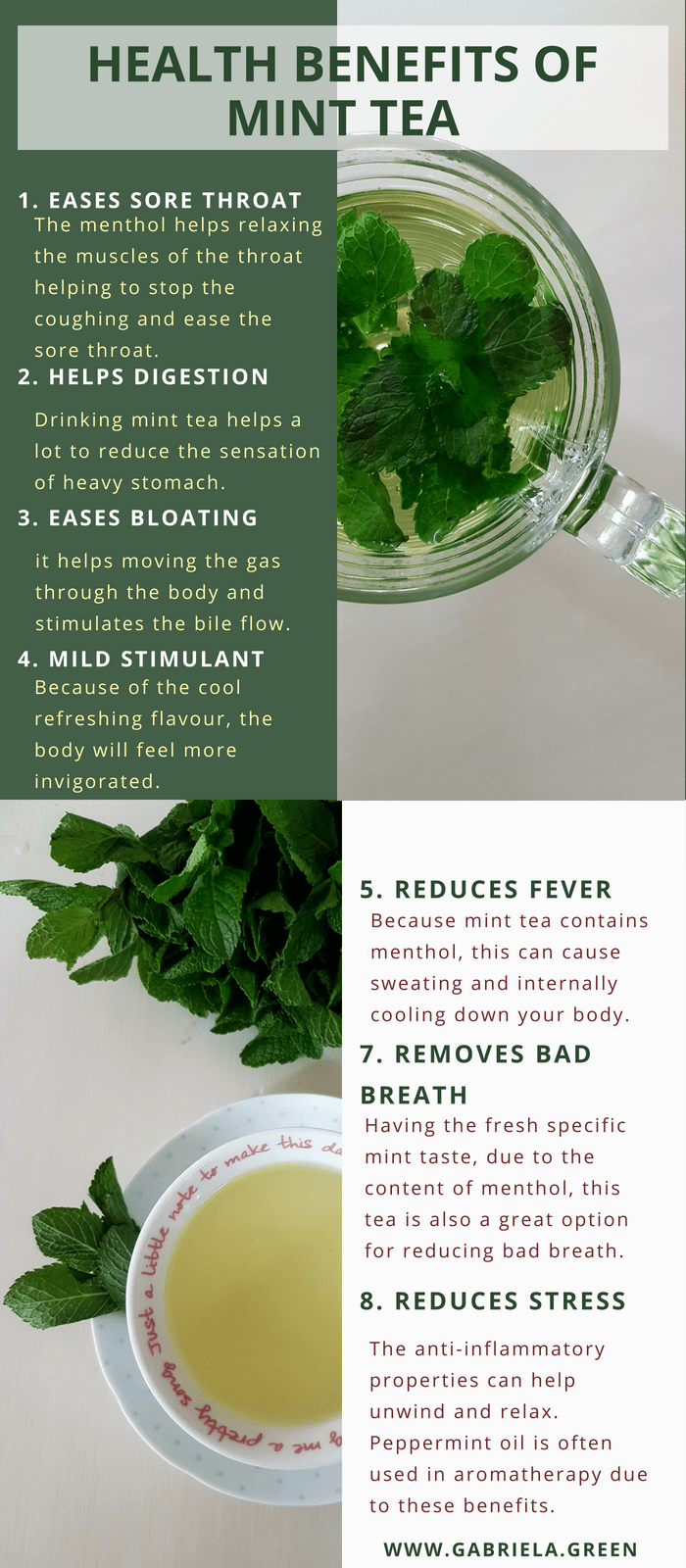 the 11 biggest health benefits of drinking mint tea | mint