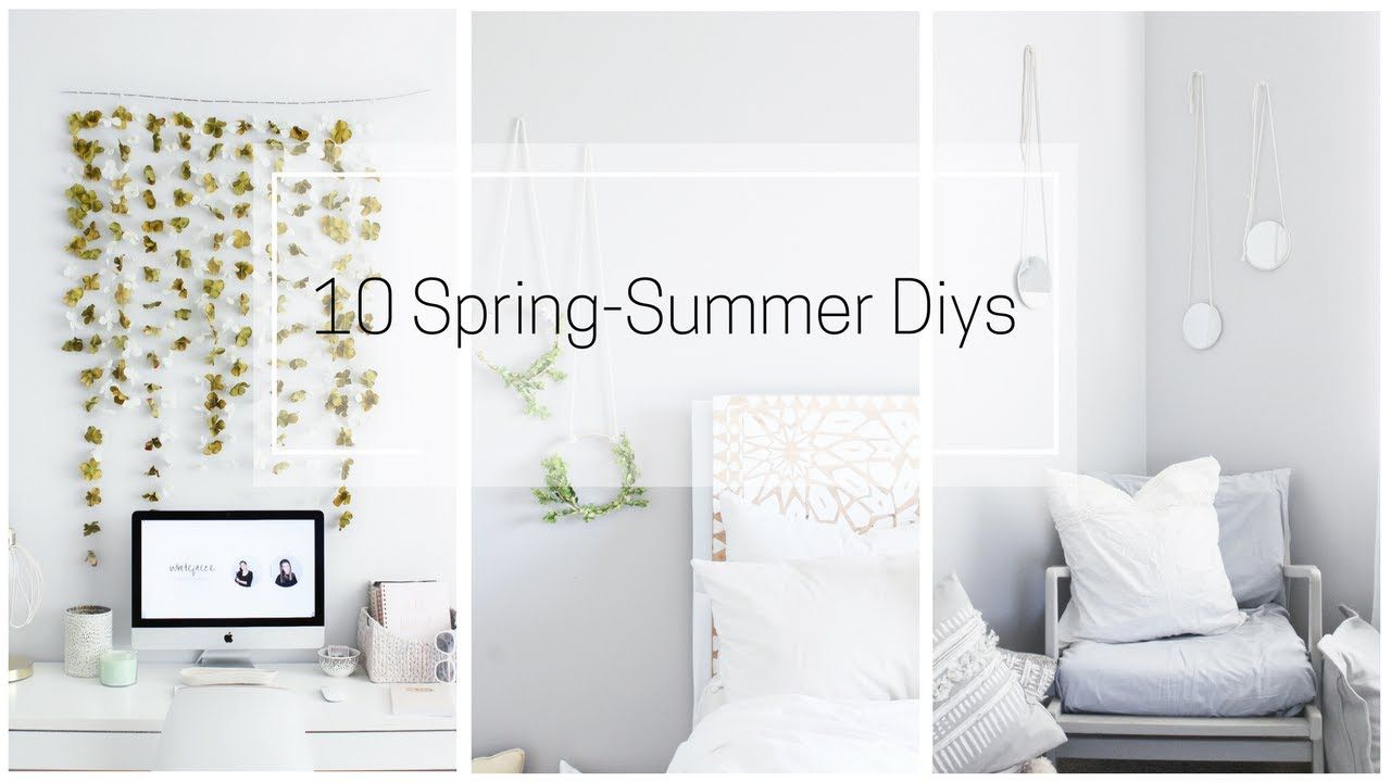 Spring Summer 10 Diys Decor Ideas Spring Room Decor Diy Cute