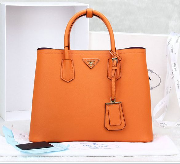 a596b2a480e 2014 Cheap Prada Saffiano Cuir leather tote orange,Prada bags 2014 ...