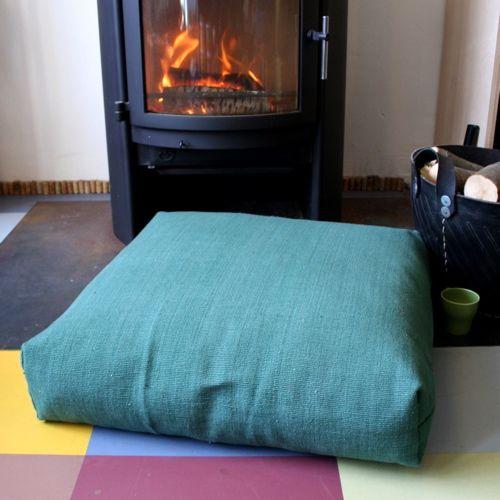 Boxy Organic Floor Cushion | Dojo Ecoshop at The Manchester Futon ...