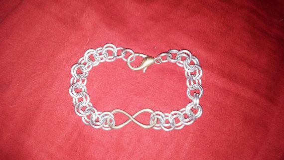 Check out this item in my Etsy shop https://www.etsy.com/listing/203217625/handmade-2in2-chainmaille-infinity