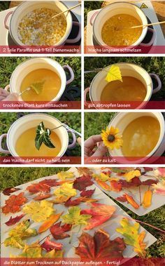Bunte herbstbl tter haltbar machen selber machen for Herbstblatter deko basteln