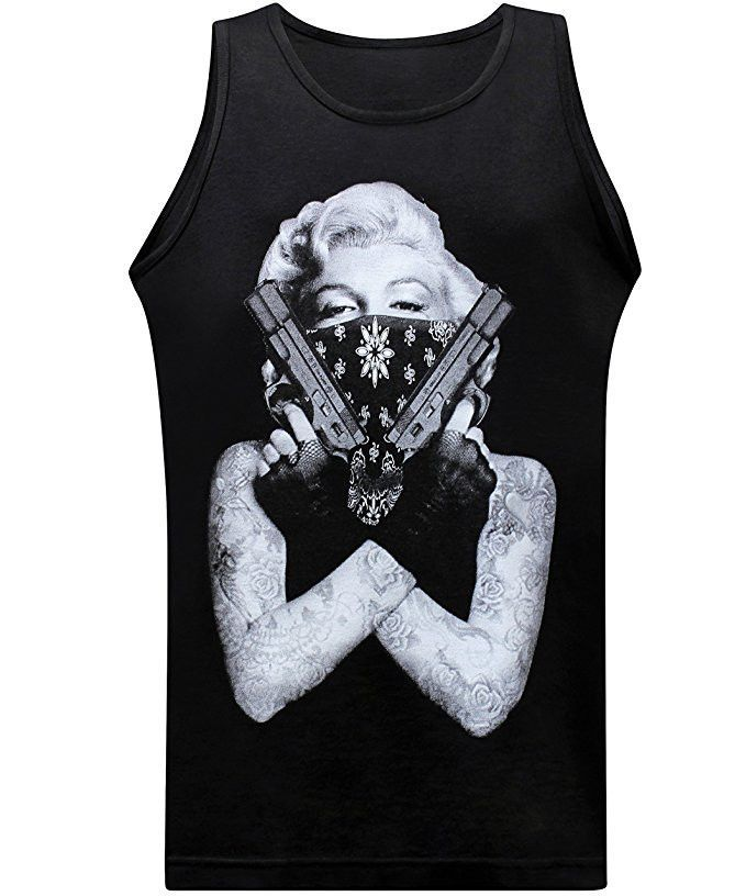 56d8142f6 T Shirt · Marilyn Gangster - Tank California Republic, Muscle Tees, Pride,  Comfy, Tank Tops