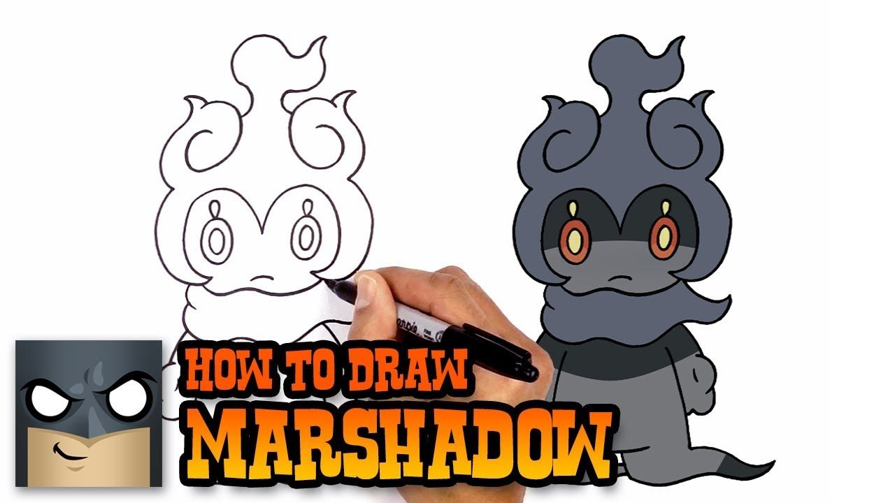 How To Draw Marshadow Pokemon Step By Step Drawing Tutorial