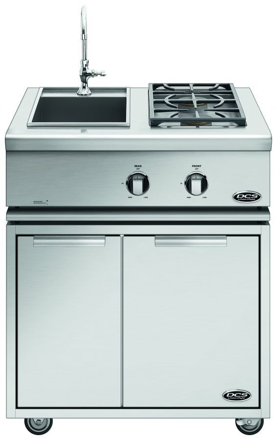 DCS 30-Inch Liberty Collection Freestanding Dual Sideburner and Sink Unit - BFGC-30BS + CAD1-30