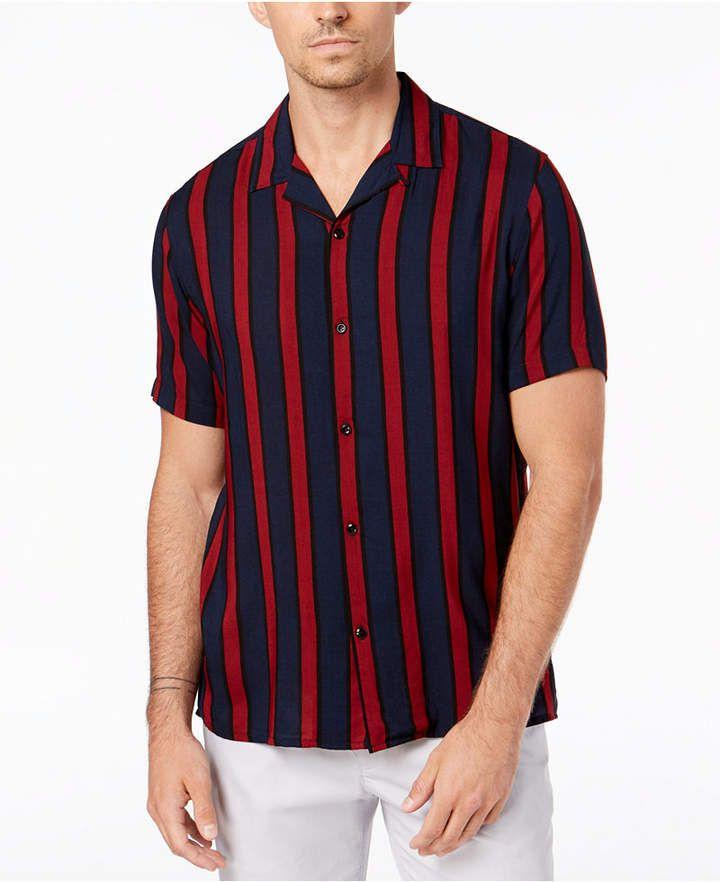 c43b710734 INC International Concepts I.n.c. Men s Camp Collar Striped Shirt ...