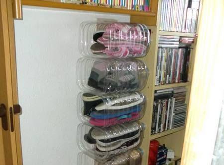 10 scarpiere fai da te e a costo zero dal riciclo creativo for Scarpiere d arredo