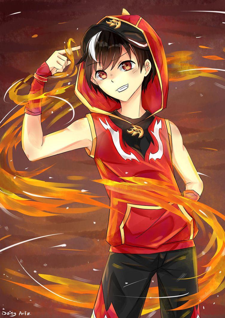 Boboiboy Blaze By Daisy Artz Boys Anime Galaxy Galaxy Comics