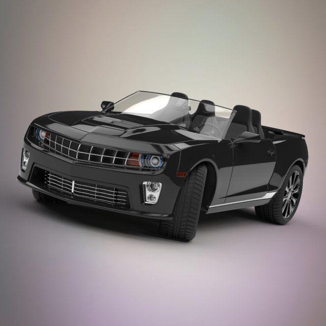 Camaro convertible car 3D Model .max .c4d .obj .3ds .fbx .lwo .stl @3DExport.com by Deepocean