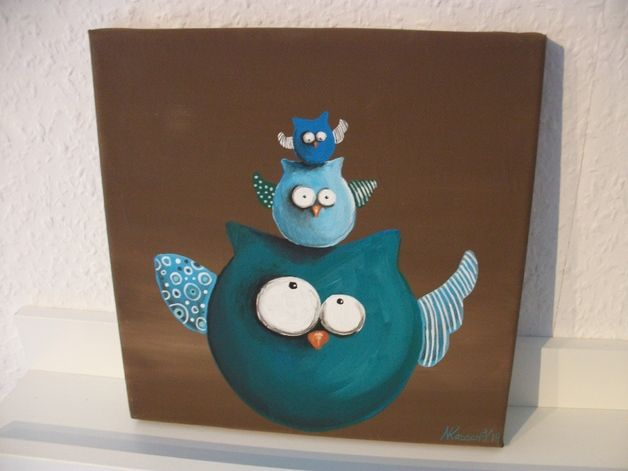 acrylbild 20x20cm wir machen blau bilder malen idee pinterest acryl malen und malerei. Black Bedroom Furniture Sets. Home Design Ideas