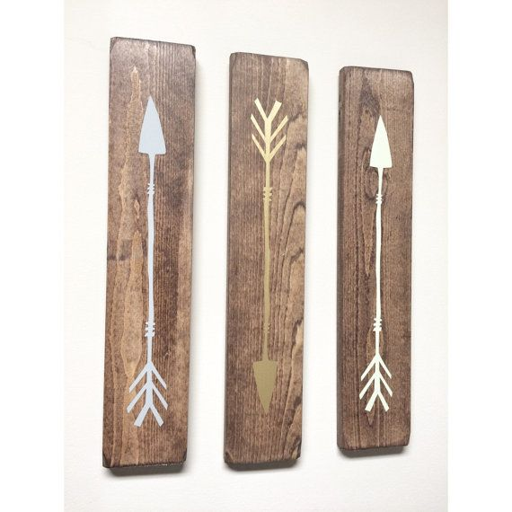 Rustic Grey Gold Lime Green Wooden Arrows  3 by cherrytreegallery