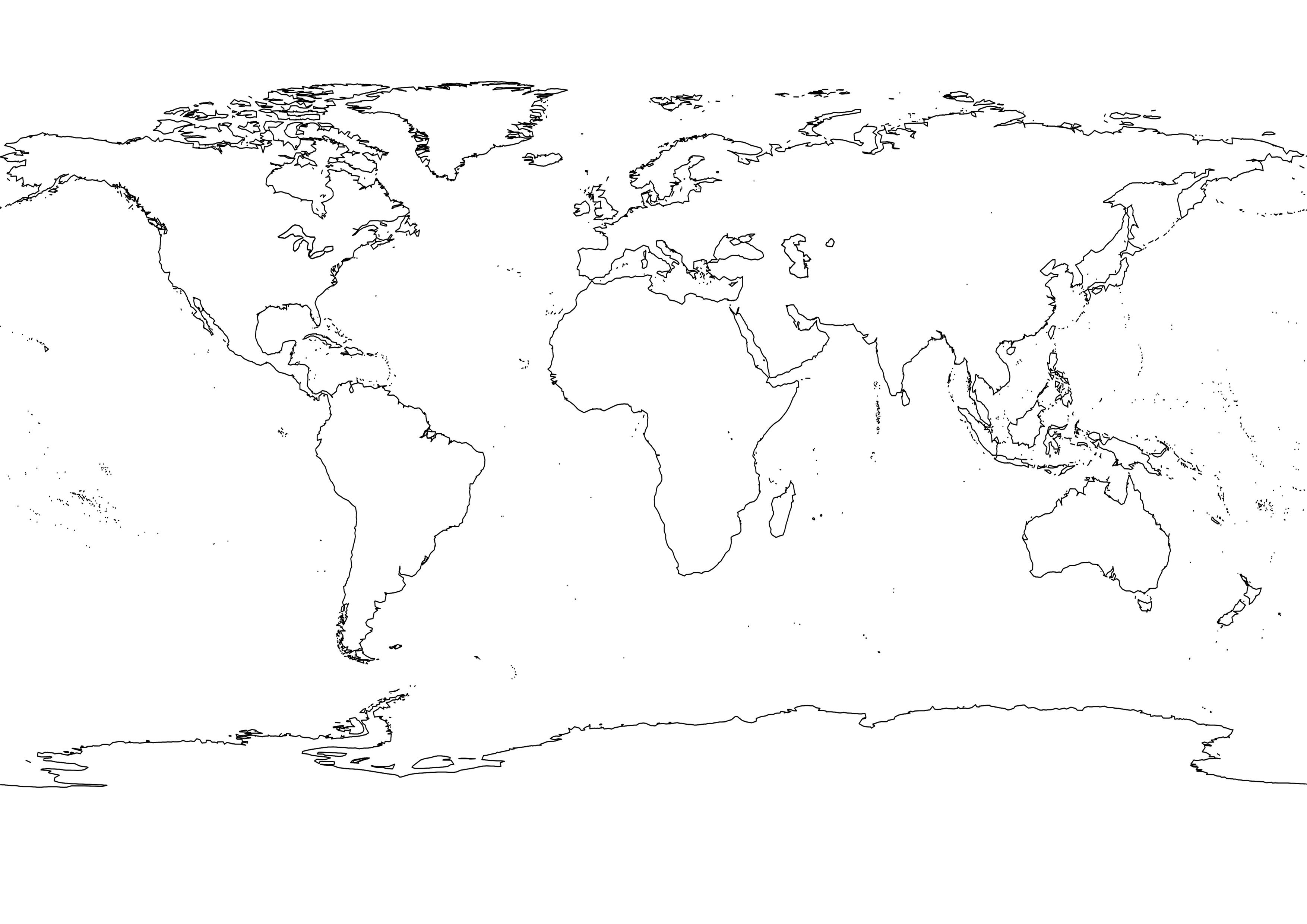 Black White World Map Julie Pinterest Outlines Earth and Social studies