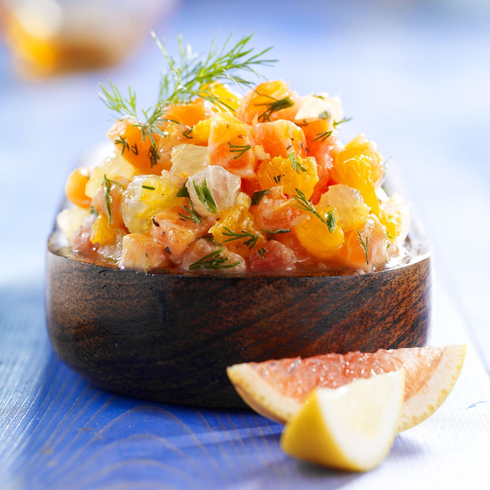 Tartare De Saumon Aux Agrumes Recette Recette Saumon Recette