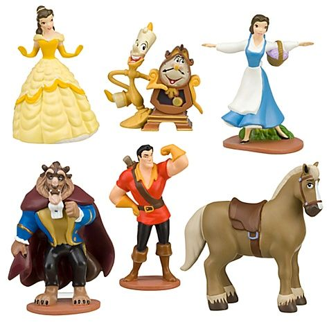 Disney Princess BELLE FIGURINE Sparkle Cake TOPPER Beauty /& the BEAST Toy NEW