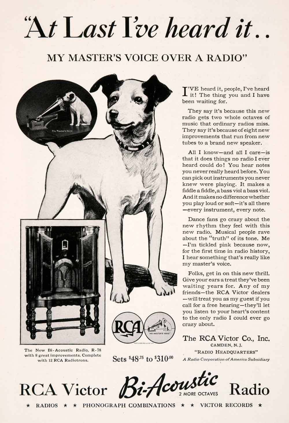 Accept. Rca nipper vintage advertising history was specially