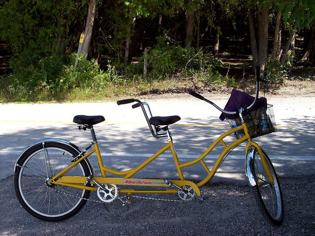 Tandem Bike On Mackinac Island Tandem Bike Tandem Bike