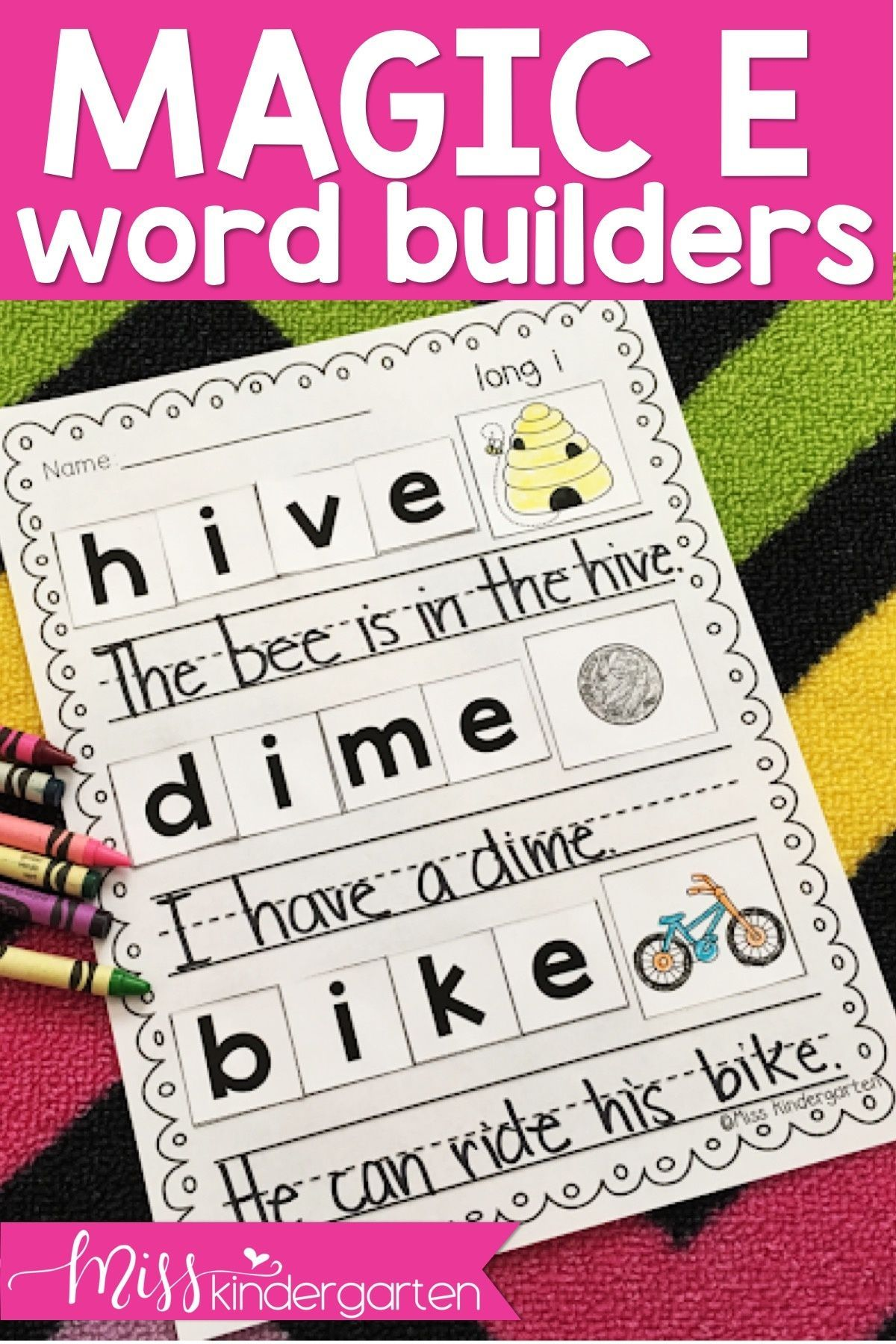 Cvce Word Builders Long Vowel Practice