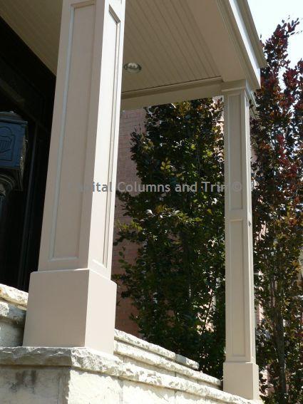 Square Recessed Panel Pvc Column Wraps Make A Bold Statement On Your Porch Front Porch Columns House Columns Porch Columns