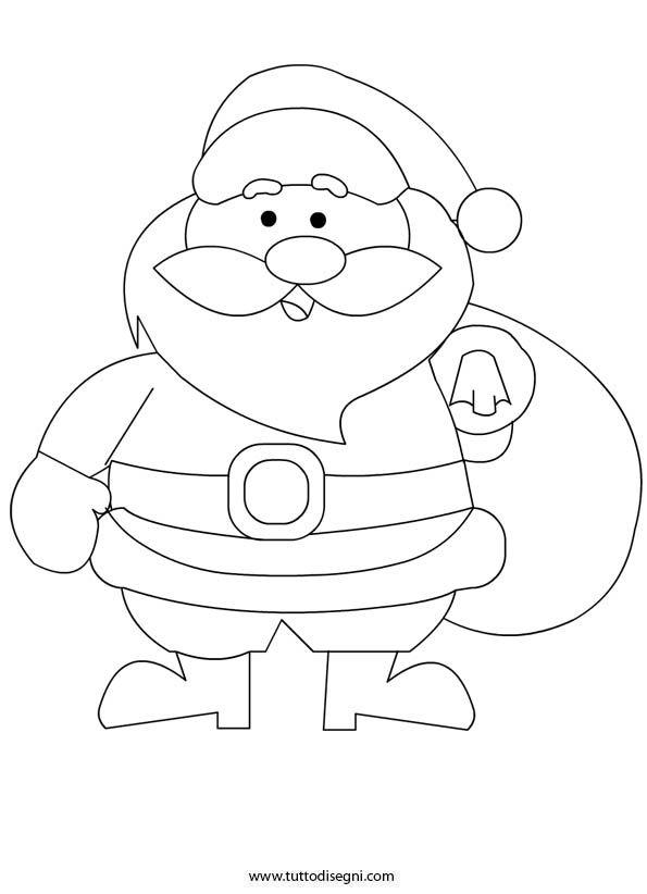 Babbo Natale Con Sacco Regali Da Colorare Tutto Disegni Babbo