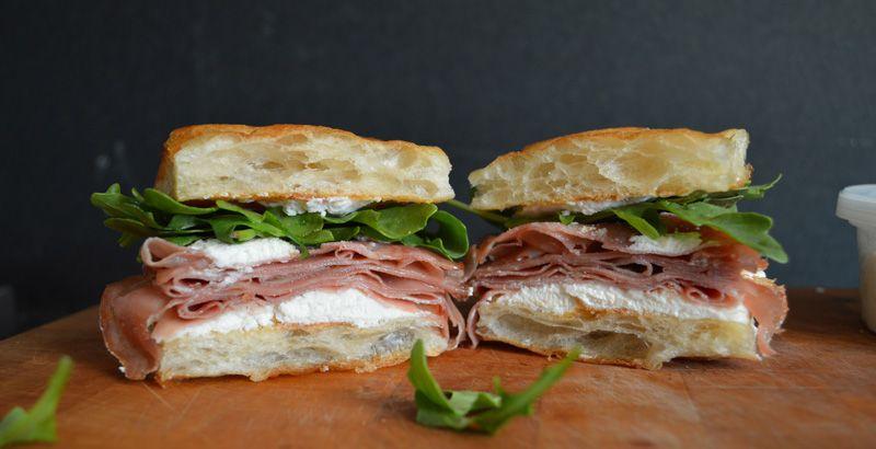 Sandwich 174 Michael White S Forbidden Mortadella And Ricotta Cheese On Focaccia
