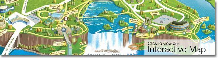 Niagara Falls State Park Interactive Map Take Me Here Pinterest