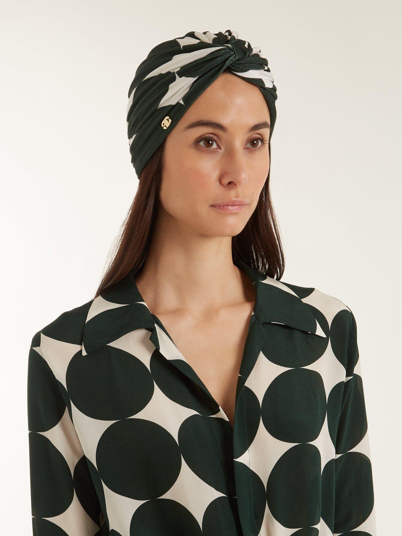 Spot-print stretch turban hat Adriana Degreas Amazing Price Cheap Online LkAG8sQpS