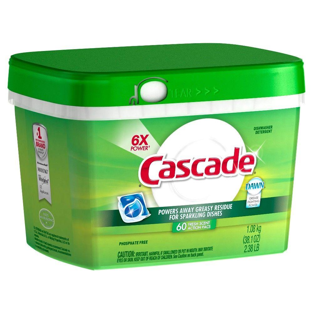 Cascade Actionpacs Fresh Scent Dishwasher Detergent 60ct Dishwasher Detergent Best Dishwasher Detergent Cascade Dishwasher Detergent