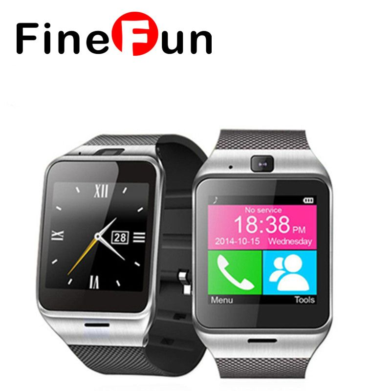 FineFun Smart Watch NFC Aplus GV18 Bluetooth Smartwatch Camera Android  Watch Phone Support SIM Card For