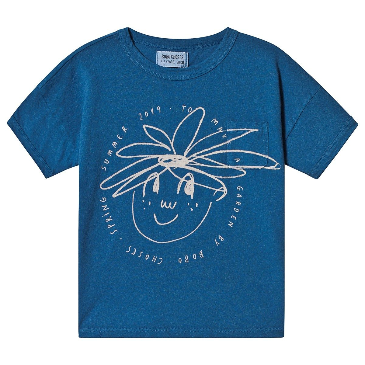 878a17e5a41 Dress your little one in sustainable style with the Daisy Linen T-Shirt in  Seaport from the bestselling Spanish brand Bobo Choses.