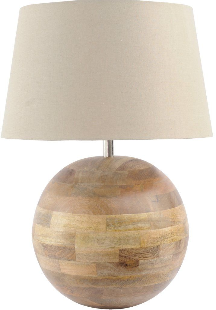 Salina large spherical mango wood table lamp with beige shade salina large spherical mango wood table lamp with beige shade aloadofball Choice Image