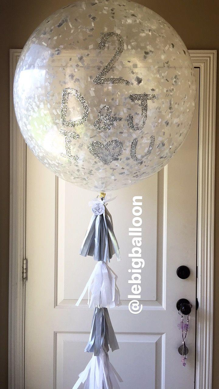 Confetti Big Balloon for Anniversary  Mcallen Texas. Lebigballoon@gmail.com