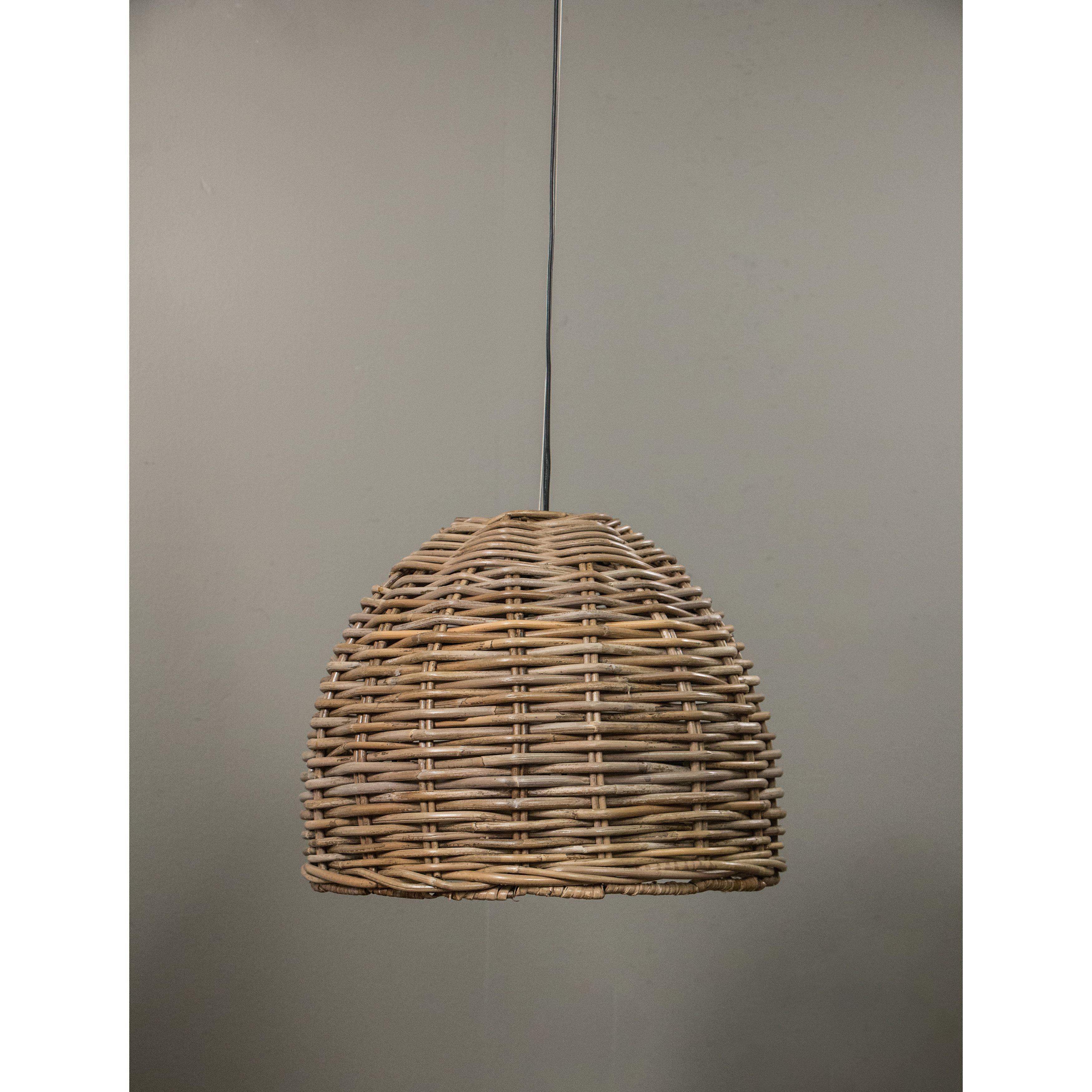Our dawson hanging lamp is made with the natural material rattan our dawson hanging lamp is made with the natural material rattan and finished with an arubaitofo Images