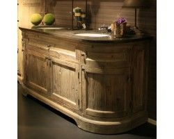 meuble salle de bain bois chene massif