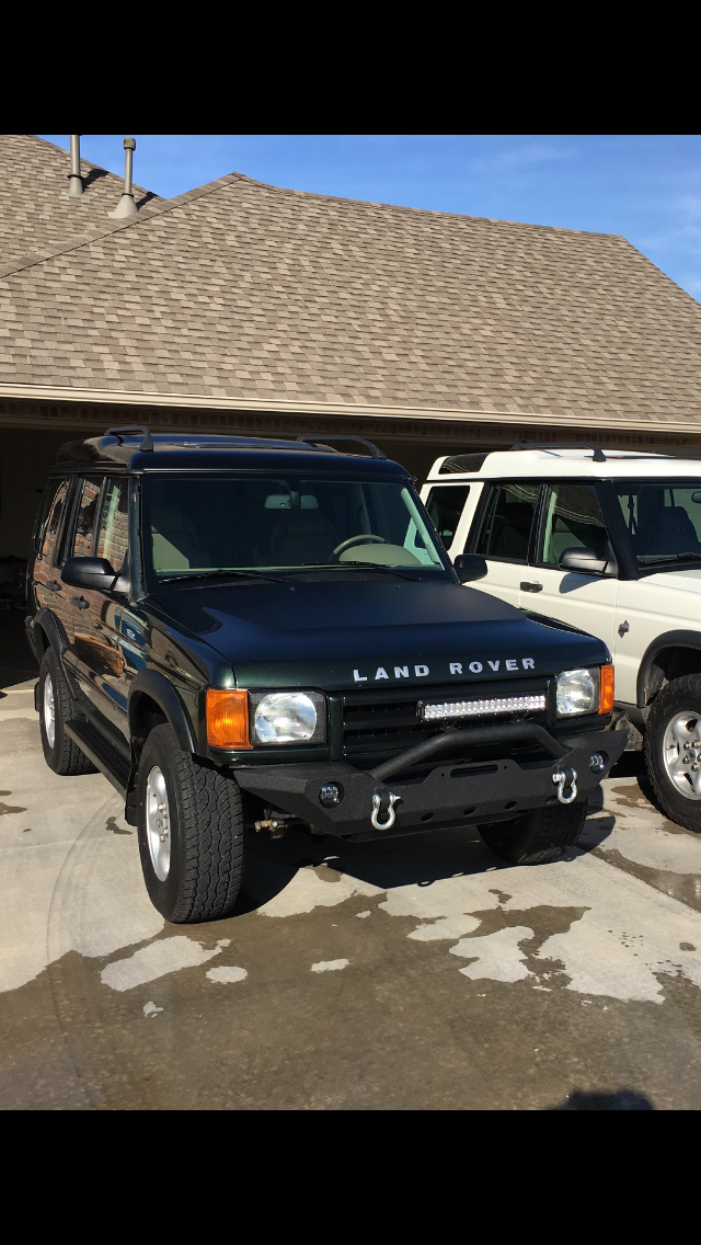I Put A Jeep Wrangler Bumper On My 01 Disco Land Rover