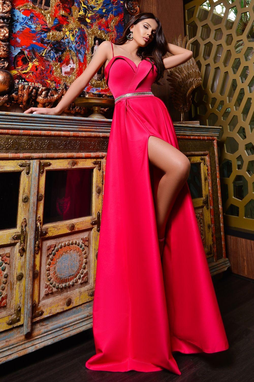 Vestiti Eleganti Fucsia.Abito Lungo Da Cerimonia Color Fucsia Abiti Abiti Lunghi E Gonne