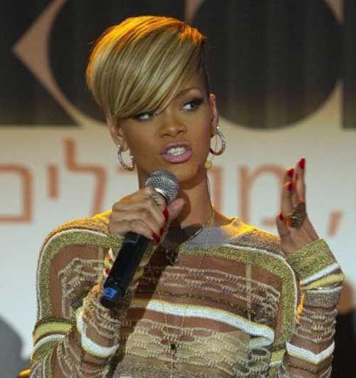 6 Rihanna Short Blonde Hairstyle Jpg 500 531 Short Blonde Hair