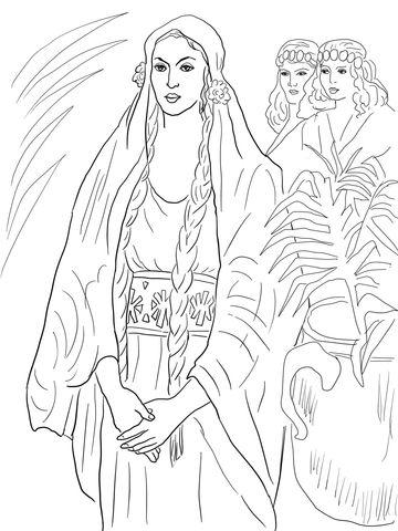 Esther de koningin kleurplaat | ВШ - Руфь и Есфирь | Pinterest ...