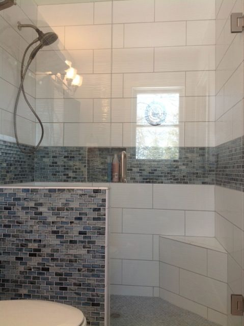 Decorative Tile Border In Shower This Frameless Seamless Shower Glass Enclsoure Is Creative With
