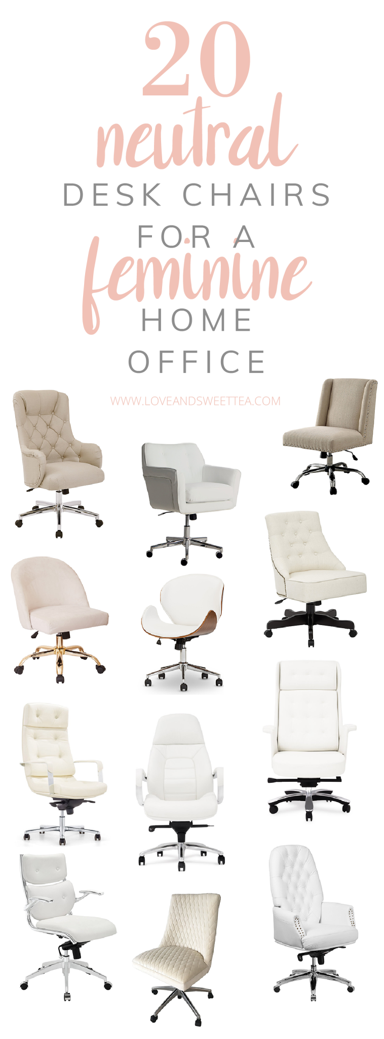 20 Cheap Comfy Desk Chair Ideas For Beautiful Home Offices or Bedrooms - Love & Sweet Tea