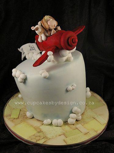 Zachs Aeroplane Topsy Turvy Airplane birthday cakes Birthday