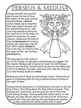 Greek Mythology For Esl Perseus And Medusa Ccss Aligned