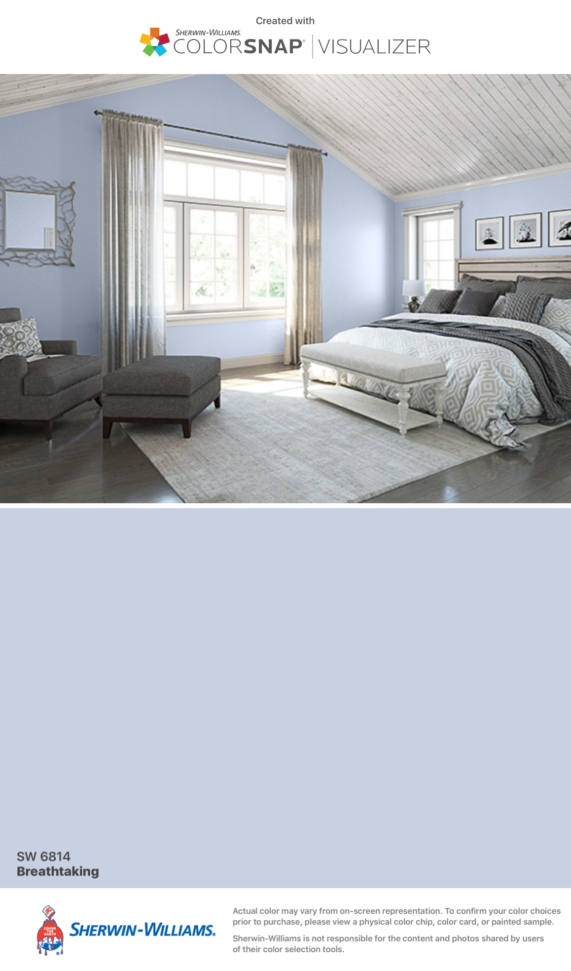 Master Bedroom: Breathtaking (SW 6814).Sherwin-Williams | Home ...