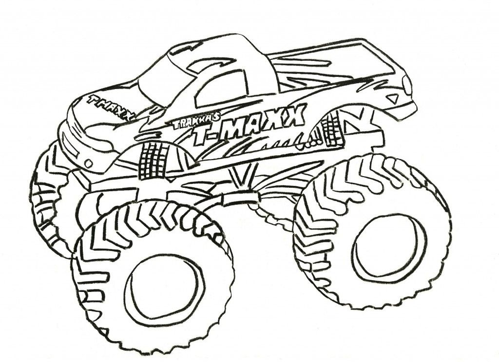 Free Printable Monster Truck Coloring Pages For Kids | monster ...