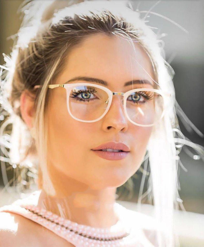 372ec4c5ed14 Optical Eye Glasses Women Frame Oval Metal Unisex Spectacles Female  Eyeglasses